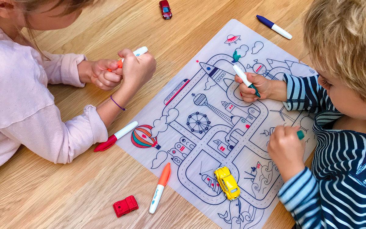 Activit coloriage la maison loin des crans super petit - Activite a la maison ...